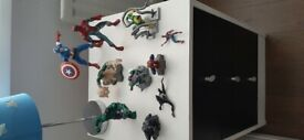 Collection of 10 Avengers figures