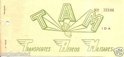 Airline Ticket   Transportes Aereos Militares   Tam   1 Flight  Peru   T145