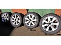 """Mercedes W204 16"""" Wheels and Tyres in Excellent Condition Fits 2007 - 2014 C Class"""