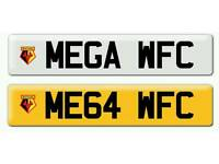 Personalised registration Private number plate WFC football