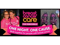Massage Volunteers wanted - Breast Cancer Care Pink Ribbonwalk