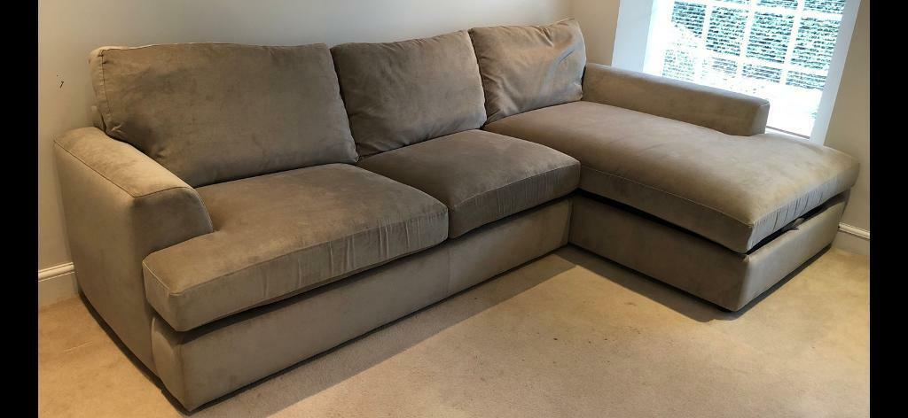 Almost New Next Corner Sofa Bed With Storage Compartment In