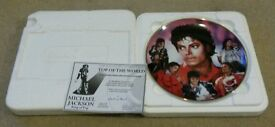 Michael Jackson Danbury Mint Collector Plate 22 carat gold Limited Edition 'Top Of The World'