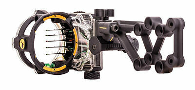 New 2017 Trophy Ridge React H5 Bow Sight 5 (.019) Pin RH Black Model# AS855