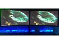 """2x Samsung C90 modle 24"""" curved monitors with stand!"""
