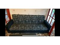2x Sofa - material and patterned 200cm long