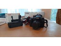 Canon 7d DSLR, Kit Lens and genuine battery grip