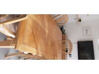 Extending Dining Room Table 6 chairs (2 x carvers) & matching sideboard