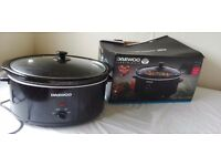 6,5L slow cooker with glass lid