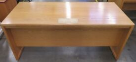 Large Straight Wooden Office Desk