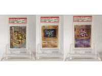 x3 Rare Pokemon cards all PSA graded 10! holo Nidoking, Machamp and Breakpoint Machamp