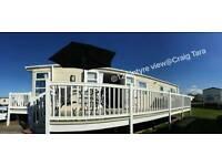 exclusive SEA VIEW** Modern Platinum grade * 3 BEDROOM caravan for hire at Craig Tara!