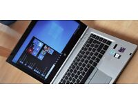 """WARRANTY fast profi 14"""" laptop HP Elitebook core i5 8GB RAM 256GB SSD Windows 10 MS Office"""