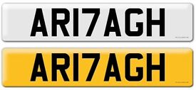 UNIQUE ARMAGH NUMBER PLATE!! AR17AGH - GREAT CHRISTMAS PRESENT - Porsche BMW Audi VW or Tractor