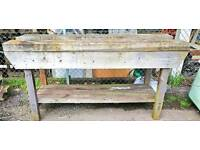 Carpenters pine workbench
