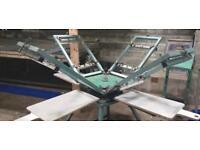 Carousel 4x4, FOX, dryer, screen printing