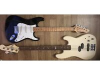 Faulty Rockwood LX90L by Hohner electric guitar and Marlin Sidewinder Bass
