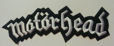 """Motorhead England Embroidered Applique Jacket Patch~8 3/8"""" x 3"""" ~Iron~Sew~NEW"""