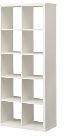 ikea kallax expedit cube unit white rare config 5 x 2 10 cubes 2 pink boxes fantastic. Black Bedroom Furniture Sets. Home Design Ideas