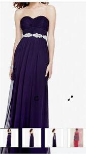 Plum coloured bridesmaid dress for sale