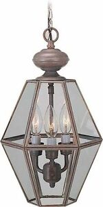 3 Light Brushed Nickel Clear Glass Candle