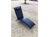 Black Leather Chaise Longue