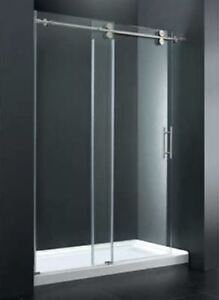 """Costco glass shower enclosure and base (60""""x 32"""")...new/not used"""