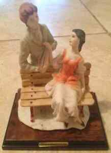 Valentino antique couple porcelain figurine