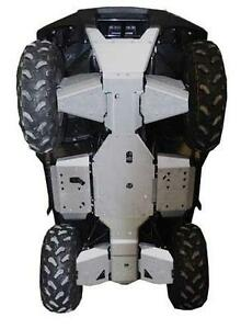 Ricochet 9-Piece Skid Plates, Kawasaki Brute Force ATV TIRE RACK