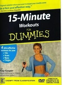 A13 BRAND NEW SEALED 15 Minute Workout For Dummies (DVD, 2003)