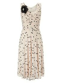Jacques Vert - Spot fit and flare dress - BRAND NEW - Size 8
