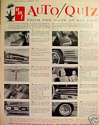 1964 AMT Model Car Kits~Quiz Toy 1/25 3~in~1 Automotive T-Bird Thunderbird AD