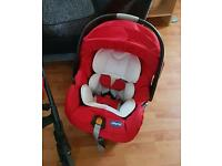 Chicco car seat group 0 from birth red