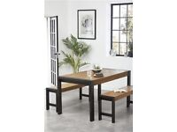 NEXT dining table with bench's
