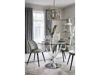 For Sale - Tulip 4 seater round dining table (Next) -100 cm diameter