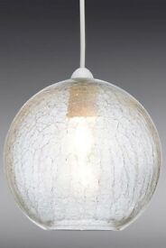 Next light shade crackle glass grey
