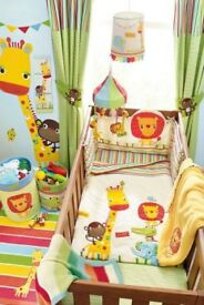 Jungle Brights nursery bedding and accesories
