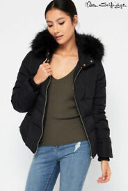ladies Miss Selfridge Winter Puffa Jacket Petite 12 New