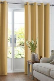 **Brand new** Ochre Cotton Eyelet Lined Curtains Studio Collection By Next