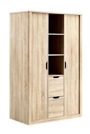 NEXT COMPTON TRIPLE WARDROBE WITH SHELVES AND DRAWERS