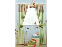 Next jungle brights curtains and matching lampshade