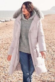 OUTERWEAR NEXT Pink Long Padded Jacket UK8 BNWT