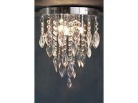 Decorative light crystal ceiling light fitting.
