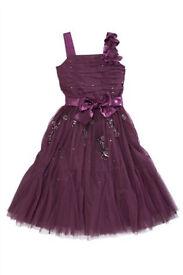Gorgeous Next Purple/Plum Party/Occasion Dress Age 10