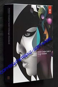 Adobe Creative Suite 6 Design Standard Mac CS3 CS4 Upgrade deutsch  Box - CS6
