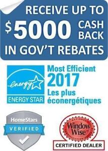 $5000 CASH BACK in GOV'T REBATES for NEW WINDOWS  +1(416) 946-1061