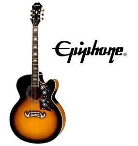 NEW* EPIPHONE ACOUSTIC-ELEC GUITAR EJ-200SCE 145046329 ACOUSTIC ELECTRIC VINTAGE SUNBURST CUTAWAY