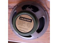 Celestion G12M Greenback guitar speaker, 25W, 16 Ohms.