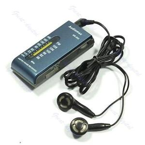 Portable AM/FM 2 Band Pocket Radio Receiver +Earphone B