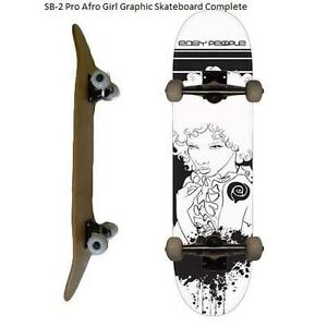 Easy People Skateboards Pro SB-2 &Semi-Pro SB-1 Natural-Stained-Graphic Completes Skateboard Deck Truck Wheel Bearin